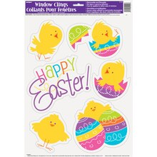 Spring Chick Easter Window Clings Sheet