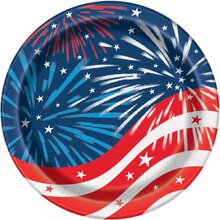 "7"" Fireworks 4th of July Party Plates, 8ct"