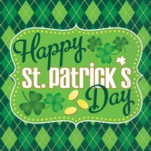 Argyle St. Patrick's Day Luncheon Napkins, 16ct