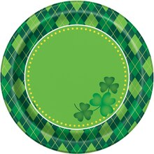 "7"" Argyle St. Patrick's Day Party Plates, 8ct"
