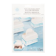 Victoria Lynn Wing Top Pearl White Favor Boxes