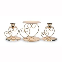 Victoria Lynn Gold Unity Candle Holders, 3 pcs