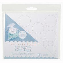 Victoria Lynn Print Your Own Gift Tags, Round