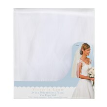 Victoria Lynn White Wedding Veil with Cut-Edge and Comb