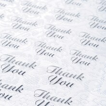 Victoria Lynn Silver Thank You Stickers, Clear Background