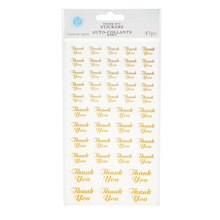 Victoria Lynn Gold Thank You Stickers, Clear Background