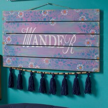 "Craft It Boho Large ""Wander"" Plaque, medium"