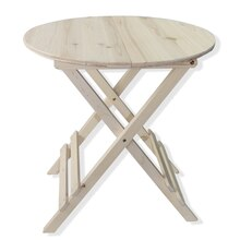 Craft It Round Wooden Foldable Table By ArtMinds