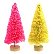 Yellow & Pink Miniature Easter Trees By Celebrate It