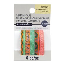 Green & Yellow Narrow Washi Tape By Recollections