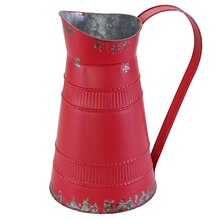 Medium Red Tabletop Metal Pitcher By Ashland
