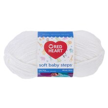 Red Heart Soft Baby Steps Yarn, White