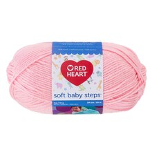 Red Heart Soft Baby Steps Yarn, Baby Pink