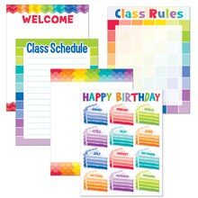 Painted Palette Classroom Essentials Chart Pack, 5 Charts