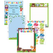 Woodland Friends Classroom Essentials Chart Pack