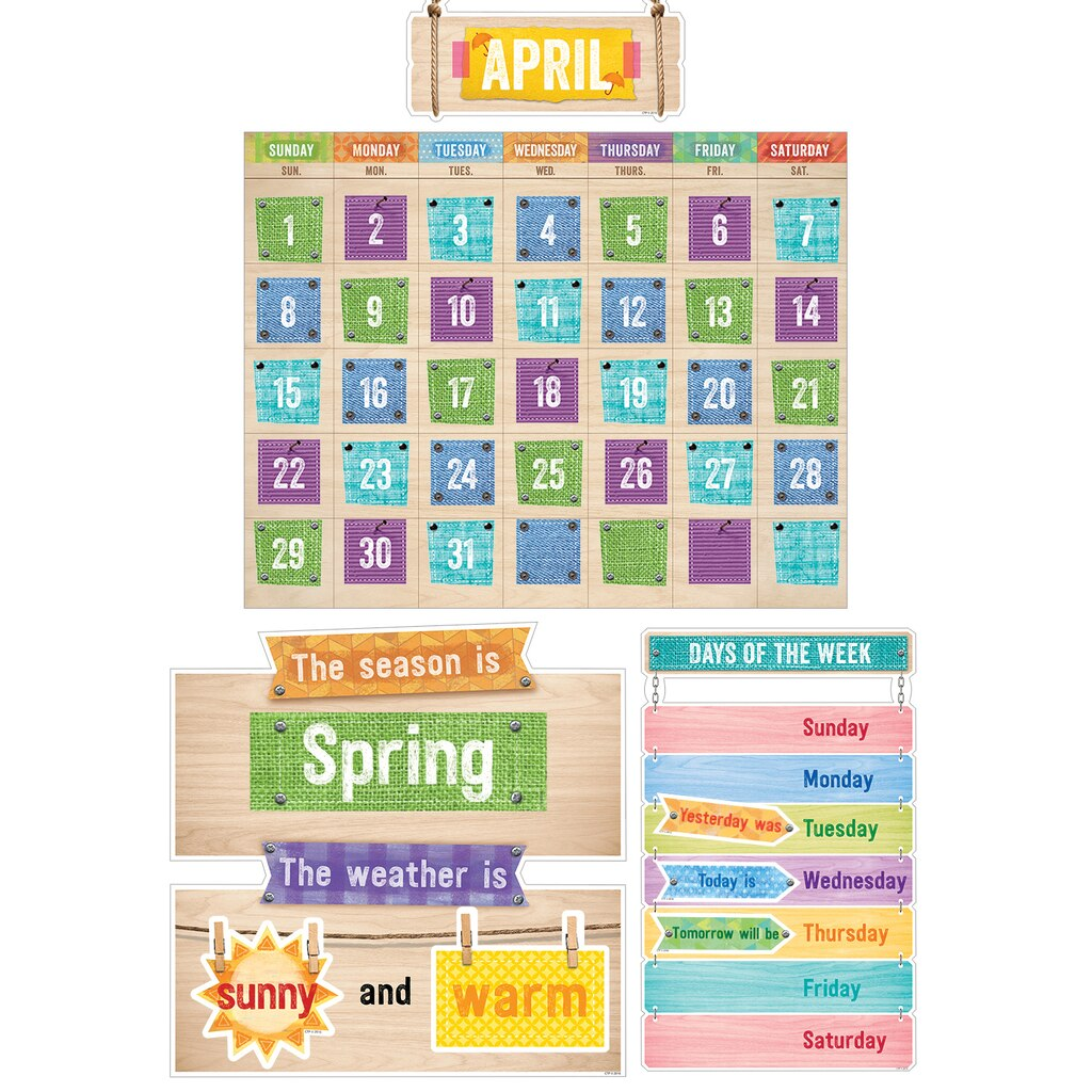 Diy Calendar Bulletin Board : Upcycle style calendar bulletin board set