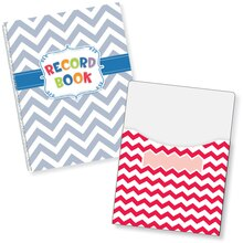 Chevron Lesson Plan Book & Library Pocket Organizers Combo Contents