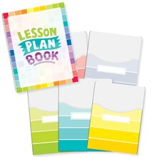 Painted Palette Lesson Plan Book & Library Pocket Organizers Combo