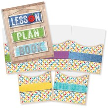 Upcycle Style Lesson Plan Book & Library Pocket Organizers Combo
