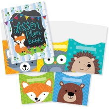 Woodland Friends Lesson Plan Book & Library Pocket Organizers Combo
