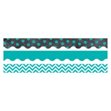 Trendy Turquoise Matching Border Pack