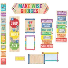 Upcycle Style Behavior Clip Chart Bookmarks & Mini Bulletin Board Set