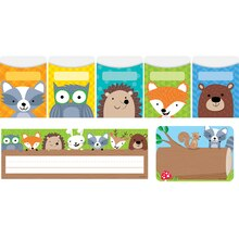 Woodland Friends Name Plates, Labels & Pockets Combo Set