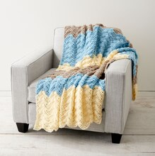 Caron® One Pound™ Seaside Ripple Crochet Afghan, medium