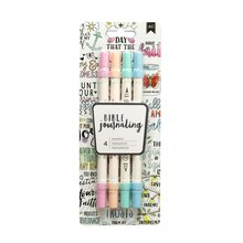 American Crafts Bible Journaling Dual Brush Markers, Soft