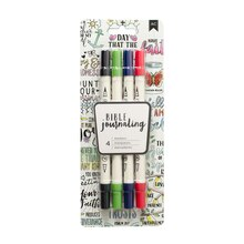 American Crafts Bible Journaling Dual Brush Markers, Primary