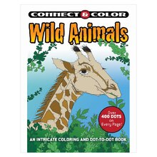Connect & Color: Wild Animals