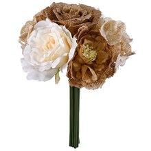 Dark Natural Rose & Peony Stem Bundle By Ashland