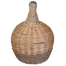 Small Tabletop Glass Bottle with Willow Decor Accent By Ashland