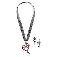 Swarovski Dark Valentine's Day Necklace, medium