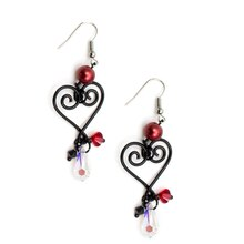 Swarovski Dark Valentine's Day Earrings, medium