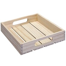Craft It Small Planked Wooden Tray By ArtMinds™