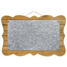 Craft It Galvanized Parenthesis Rectangle Plaque By ArtMinds