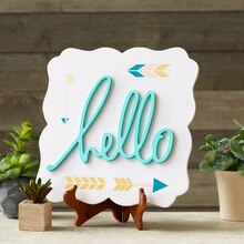 Stenciled Hello Sign, medium