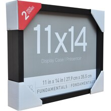 "Fundamentals Black 11"" x 14"" Shadowboxes By Studio Decor"