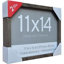 "Fundamentals Gray 11"" x 14"" Shadowboxes By Studio Decor"