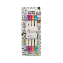 American Crafts Bible Journaling Dual Brush Markers, Bright