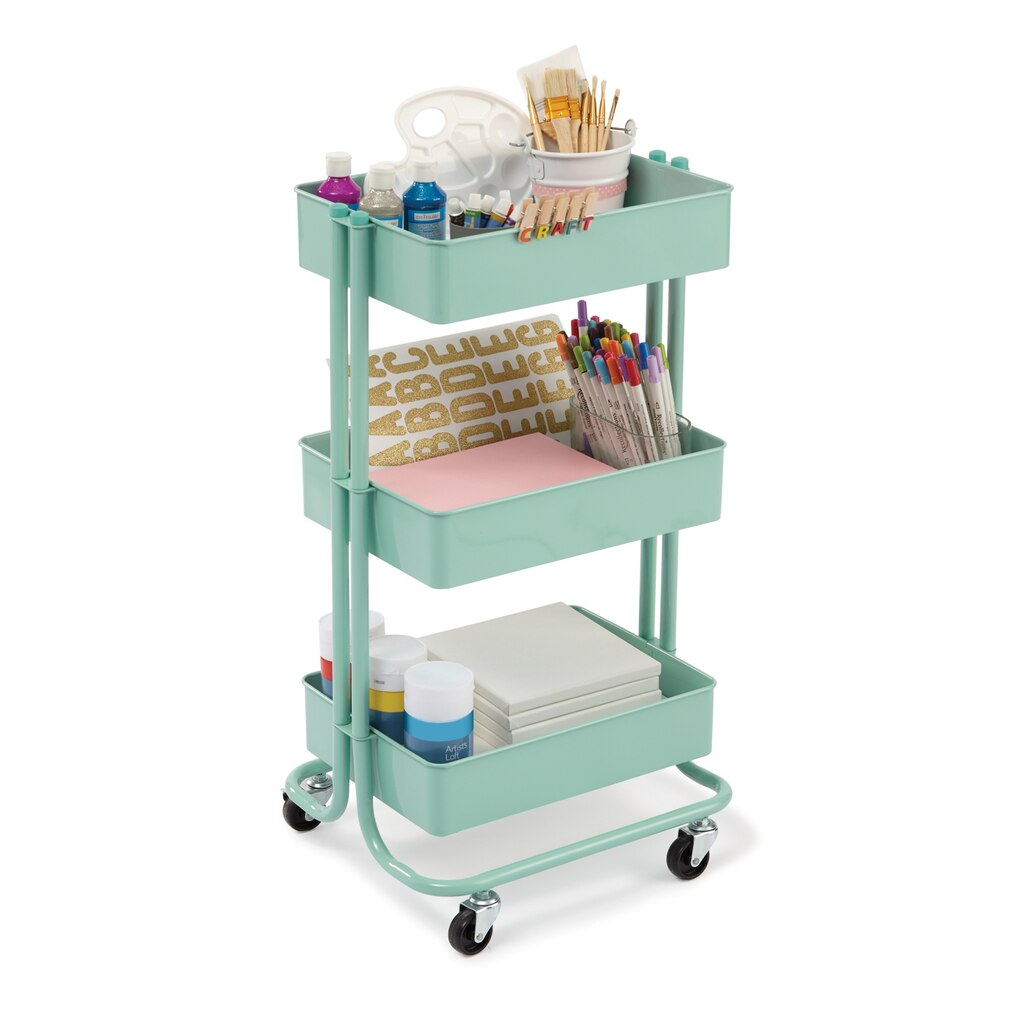 Find the mint lexington 3 tier rolling cart by recollections at michaels - Ikea metal rolling cart ...