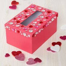 Jeweled Valentine's Card Box, medium