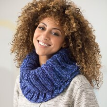 Lion Brand® Wool-Ease® Thick & Quick® Bonus Bundle 1 Ball Ribbed Knit Cowl, medium