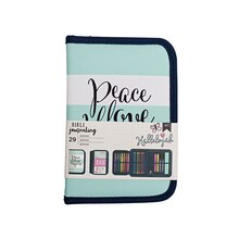 American Crafts Bible Journaling Pen Pouch, Peace Love Happiness