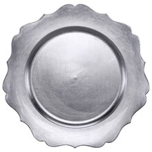 Silver Scalloped Charger by Ashland