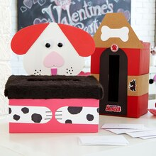 Valentine's Day Kids' Party Dog House Card Box, medium