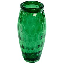 Large Green Glass Vase By Ashland