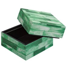 Green & White Square Wooden Box By Ashland