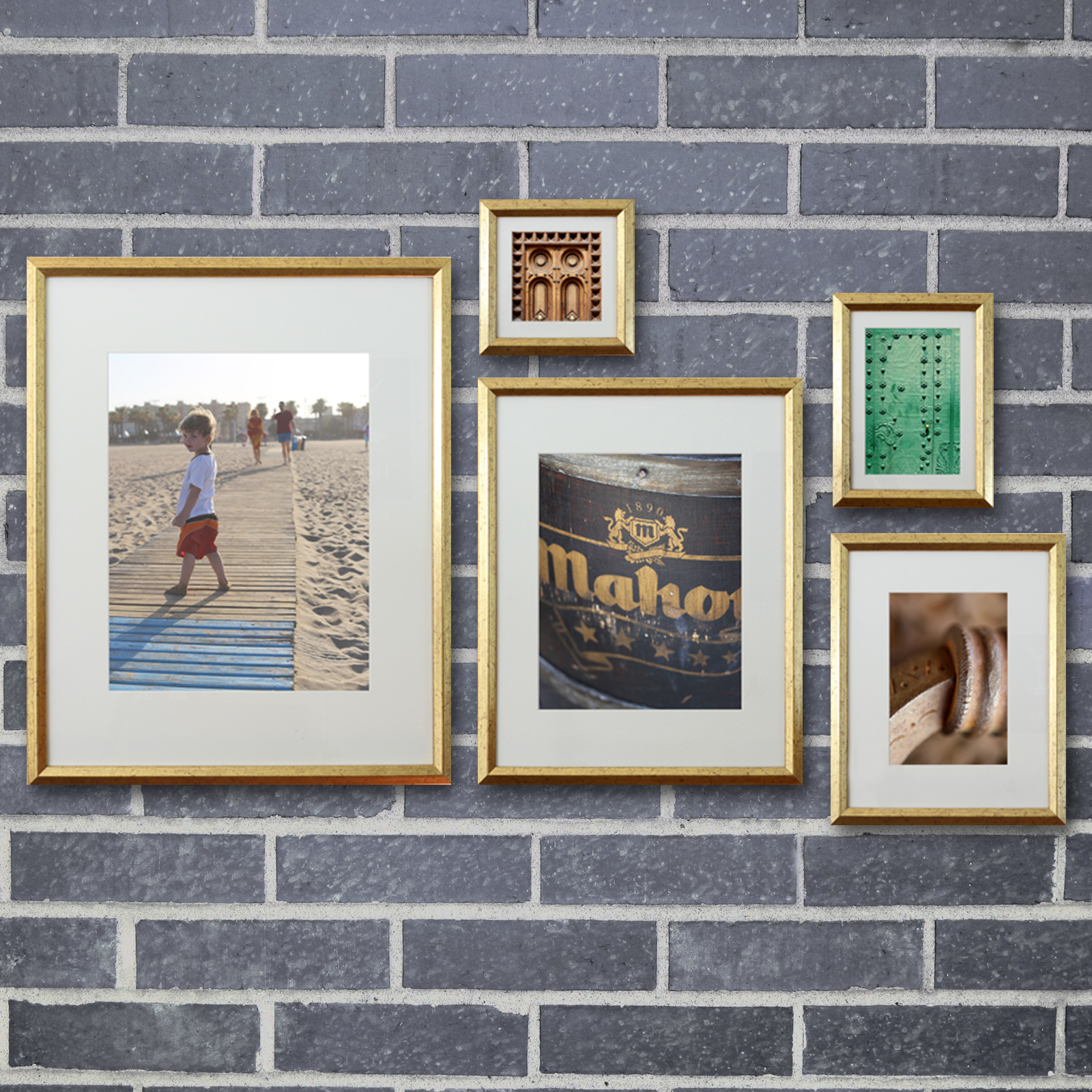 gold photo frame set by studio dcor